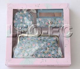 set light blue colors Jewelry silk mirror bags pouches Boxes set T361A20