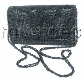 stylish Baguette black 2 layer handbag Shoulder bag purses T360A50
