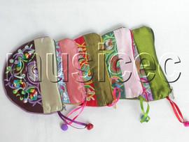 5pcs Mixed colors zipper silk Jewelry bags handbag pouches T303A6