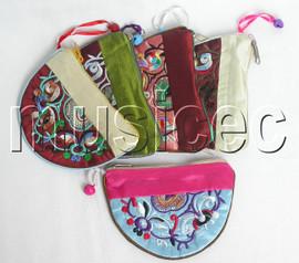 5pcs Mix colors zipper silk Jewelry bags handbag pouches T302A6