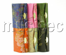 wholesale 6 pieces Multicolor glass Jewelry toiletry silk box T193A2A8