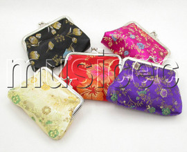 wholesale 5pcs Mix color Jewelry silk bags pouches purses T185A504