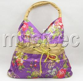 "15""X18"" lavender purple Chinese silk embroidery handbag bag purses T164A20"