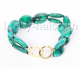 "Genuine 8"" 13X18mm oval green chrysocolla Bracelet j11393"