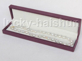 """Super Luster 17"""" BAROQUE 13MM WHITE SOUTH SEA PEARL NECKLACE 14K clasp j11412"""