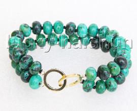 "Genuine 8"" 6X10mm green chrysocolla Bracelet j11439"
