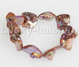 "springy 8"" Baroque light coffee shell bracelet j11822"