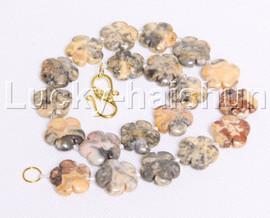 "natural 17"" 20mm baroque snowflake Multicolor agate necklace j12120"