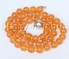 """natural 17"""" 8mm yellow round Opal cat eyes beads necklace j12642"""