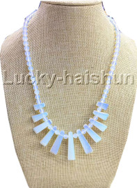 AAA natural Baroque round moonstone necklace 18KGP j13118A30