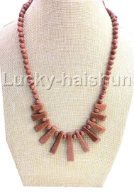 AAA natural Baroque round Gold Sand Stone necklace 18KGP j13119A30