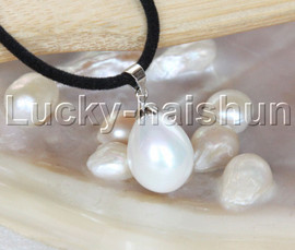 """AAA 18"""" 12*15mm drip white south sea shell pearls pendant necklace j13144"""