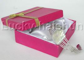 natural luster adjustable square white Reborn keshi pearls bracelet j13247