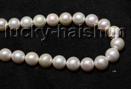 """NATURAL GRADUATED 17"""" 14MM ROUND WHITE SOUTH SEA PEARL NECKLACE 14KT CLASP j13314"""