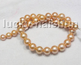 AAA NATURAL 14MM ROUND PINK SOUTH SEA PEARL EARRINGS 14K SOLID GOLD CLASP C46
