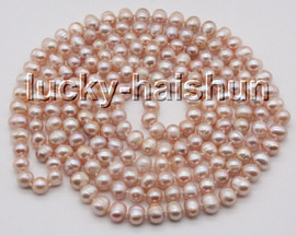 """long natural 64"""" 9mm round pink purple freshwater pearls beads knotted necklace c84"""