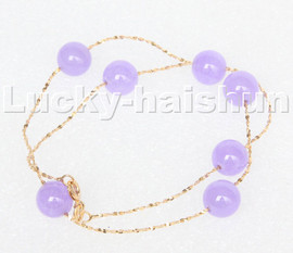 """natural 16"""" 10mm Chain round lavender jade beads Choker necklace GIFT packing c128"""