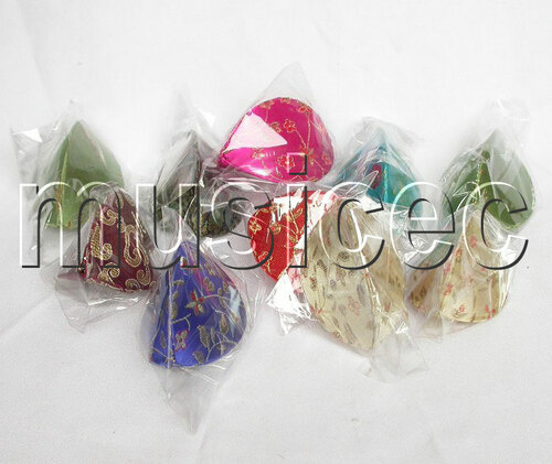 10pcs oriental style MIX color Chinese silk Embroidered Jewelry Boxes T7A18