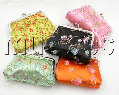 5pcs Jewelry silk bags pouches loose change purses T186A504