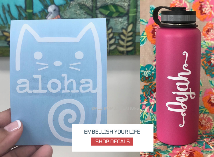 decals, cat decal and custom water bottle decals