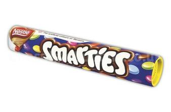 Chocolate Smarties Tube