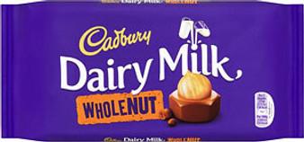 Dairy Milk Whole Nut Large Sharing Bar