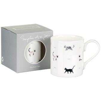 Sophie Allport Cats & Bones Large Mug