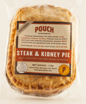 Pouch Pies, Steak and Kidney
