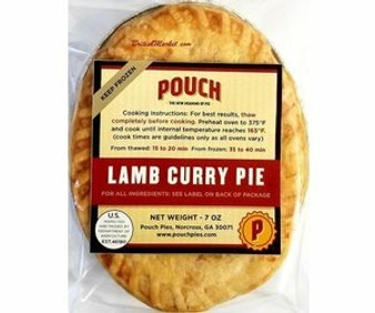 Pouch pie, Lamb Curry