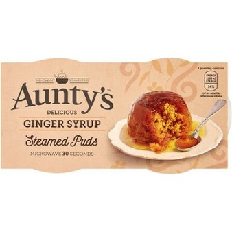 Aunty's Ginger Syrup Steam Pudding