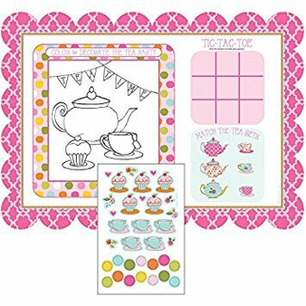 Activity place mat with stickers