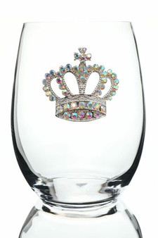 The Queens Jewels Crown Stemless Glass