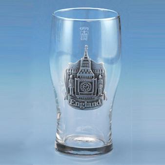 England Pewter Logo Pint Glass