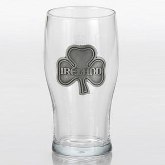 Ireland Pewter Shamrock Pint Glass