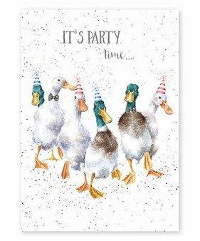 It's Party Time - Let's Go Quackers Card