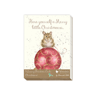 Gifts,  Wrendale design 8pkt Christmas cards. Mouse.