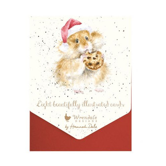 Gifts, Wrendale Designs 8pkt illustrated cards, Mouse