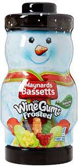Sweets Maynards Frosted Wine Gums, Snowman Gift Jar
