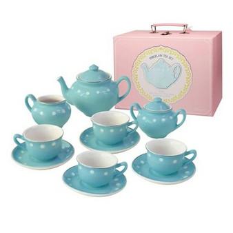 Childs Porcelain Tea Set Robins Egg Blue