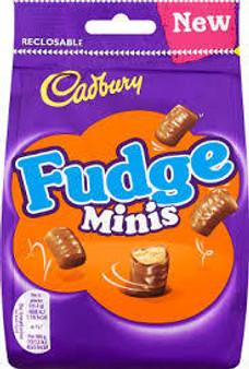 Cadbury Fudge Minis bag