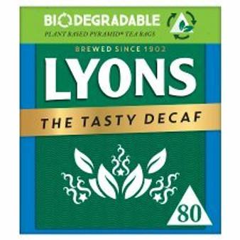 Lyons Decaf 80 Teabags