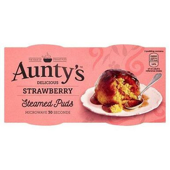 Aunty's Strawberry Steamed Puds