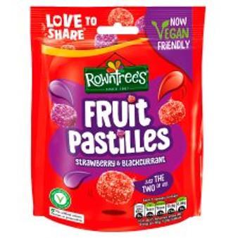 Rowntree's Fruit Pastilles Strawberry & Blackcurrant Hanging Bag