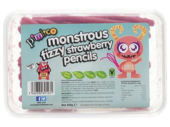 Pimlico Monstrous Fizzy Strawberry Pencil