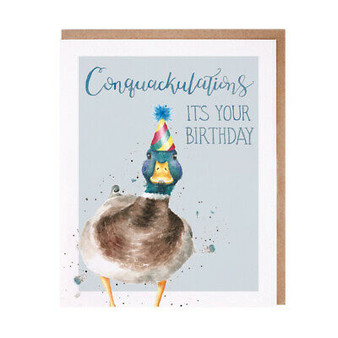 Wrendale Conquackulations Birthday Card