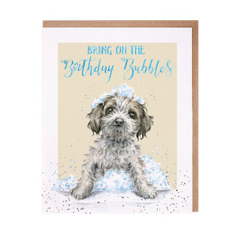 Wrendale Bring on the Birthday Bubbles Card