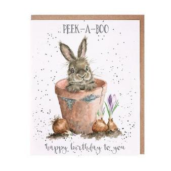 Wrendale Peek-A-Boo Birthday Card
