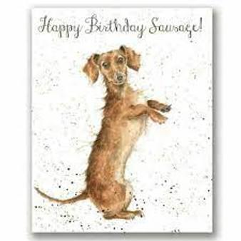 Wrendale Happy Birthday Sausage