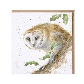 Wrendale Moonlight Owl Card