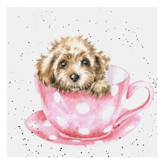 Wrendale Teacup Pup Card
